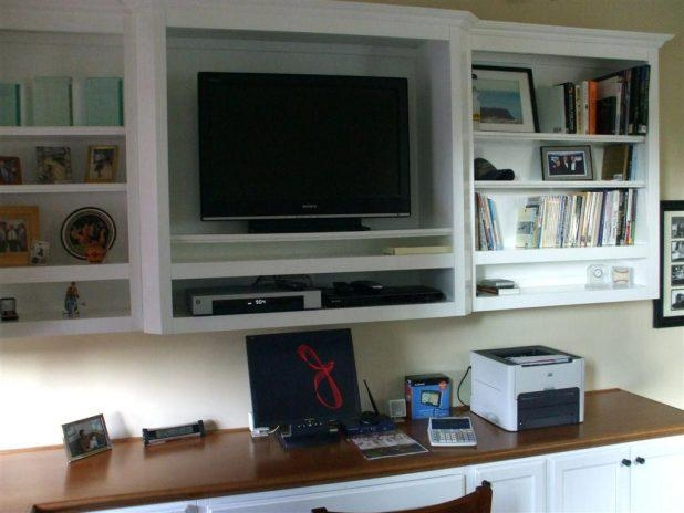 Tv Stand: Terrific Tv Stand Desk Combo Design Ideas (View 18 of 20)