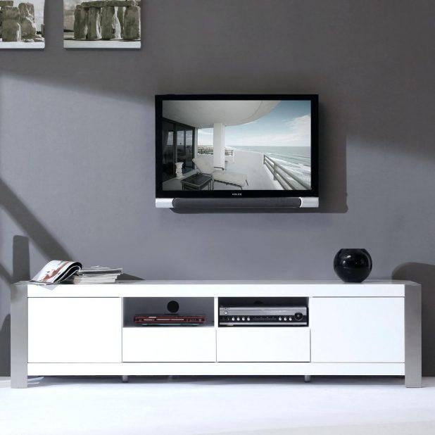 Tv Stand : Tv Cabinet High Gloss Black 121 70 Tv Stand Modern In Most Recent