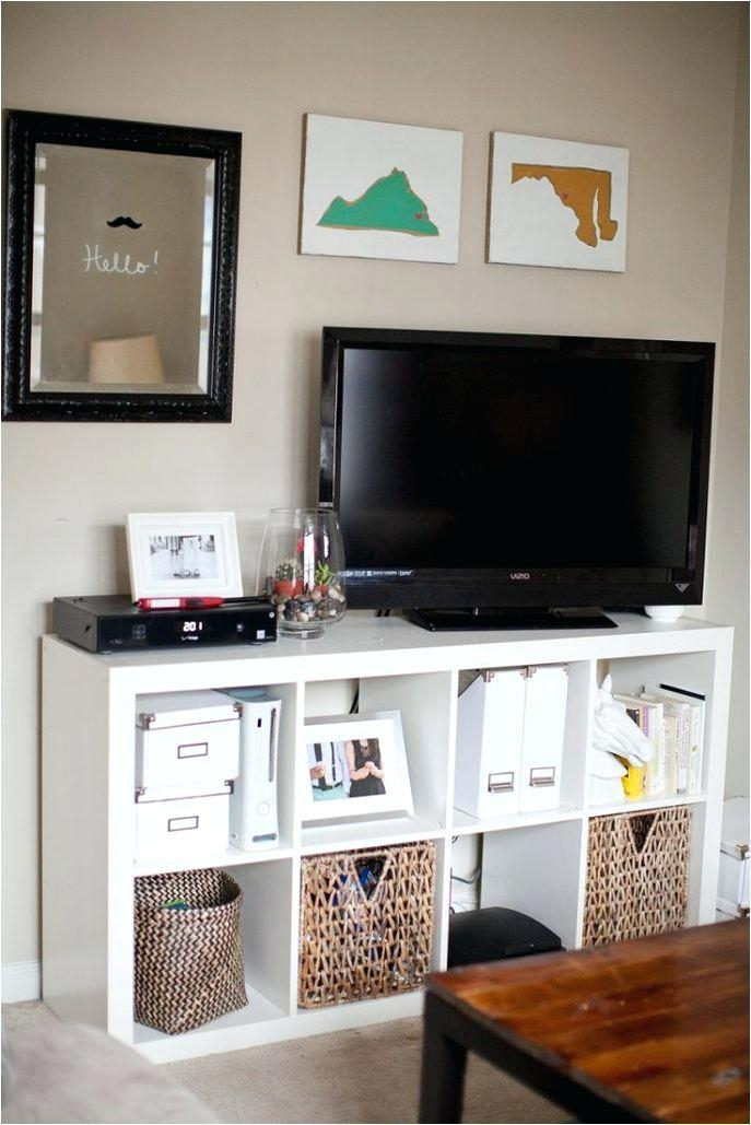 Tv Stand ~ Tv Stand With Wicker Basket Storage Tv Stand With With Most Popular Tv Stands With Baskets (Image 17 of 20)