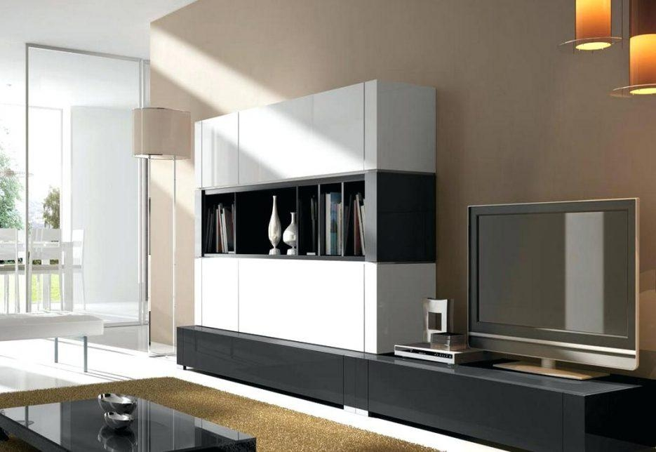 Tv Stand : Ultra Modern Tv Cabinet Shallow Depth Tv Stand In Black Regarding Most Popular Ultra Modern Tv Stands (Image 13 of 20)