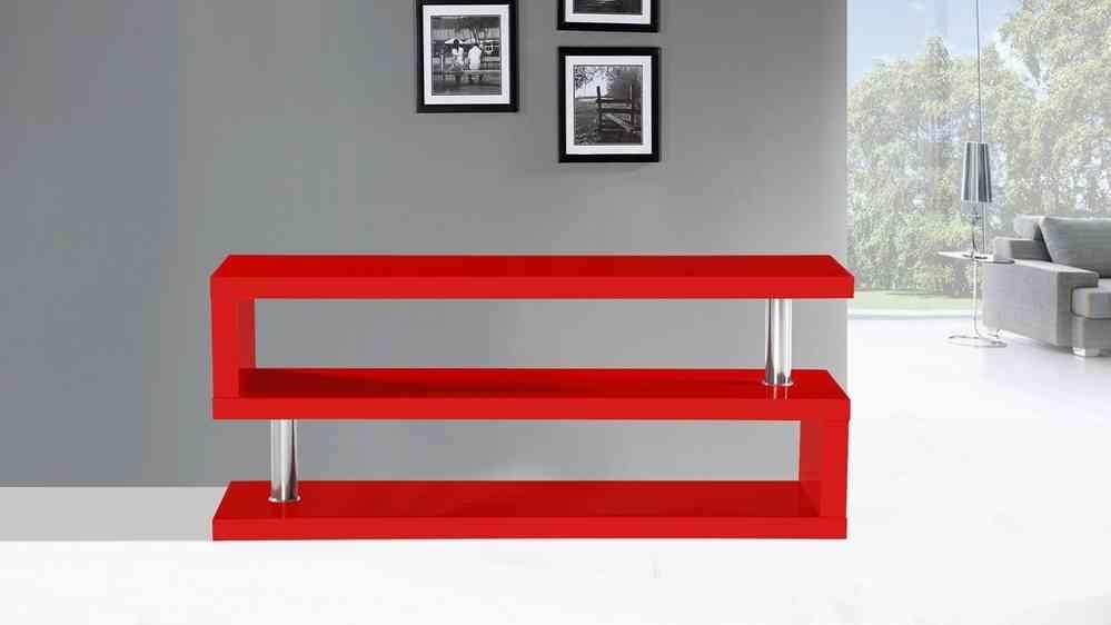 Tv Stand Unit In Red High Gloss – Homegenies Throughout Most Up To Date Red Gloss Tv Cabinet (Image 20 of 20)