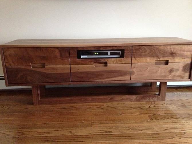 Tv Stand – Walnut Solid Wood – Kitchen & More, Inc For Most Up To Date Hard Wood Tv Stands (Photo 11 of 20)