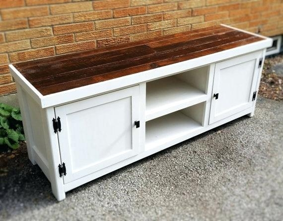 Tv Stand: White Rustic Tv Stand (View 10 of 20)