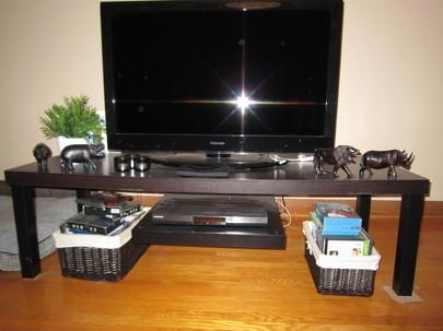 Tv Stand With Floating Dvd Platform – Ikea Hackers – Ikea Hackers With Most Up To Date Bench Tv Stands (View 16 of 20)