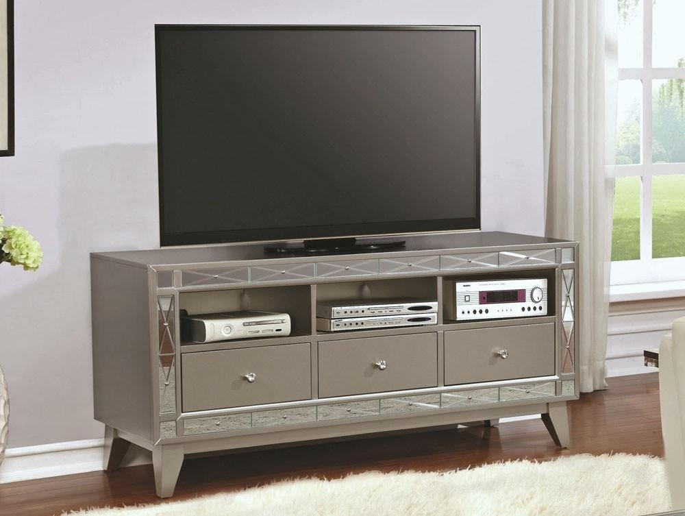 Tv Stand With Mirrored Accents For Most Popular Mirrored Tv Stands (Image 17 of 20)