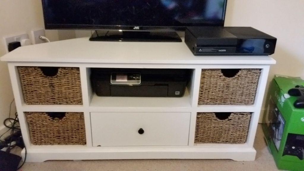 Tv Stand With Wicker Baskets | In Somerset | Gumtree Throughout Most Up To Date Tv Stands With Baskets (Image 18 of 20)