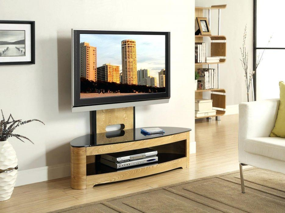 Tv Stand : Wondrous Compact White Painted Oak Wood Media Cabinet Pertaining To Newest Large Oak Tv Stands (View 14 of 20)