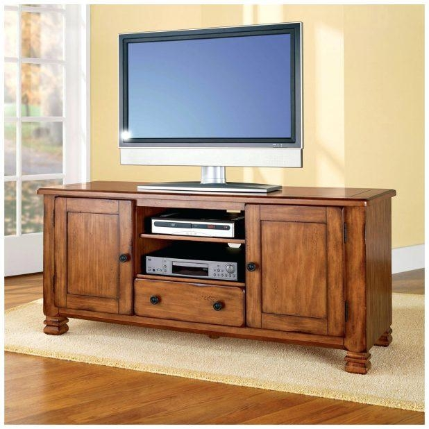 Tv Stand : Wondrous Compact White Painted Oak Wood Media Cabinet Within Latest Oak Tv Cabinets For Flat Screens With Doors (View 6 of 20)
