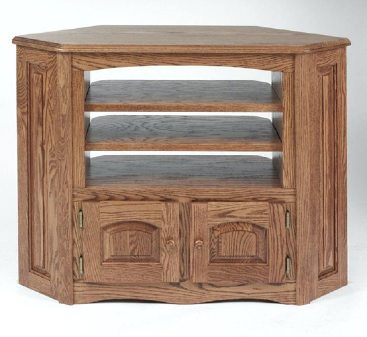 Tv Stand ~ Wood Corner Tv Cabinet With Glass Doors Oak Corner Tv Inside Best And Newest Oak Tv Cabinets For Flat Screens With Doors (View 20 of 20)
