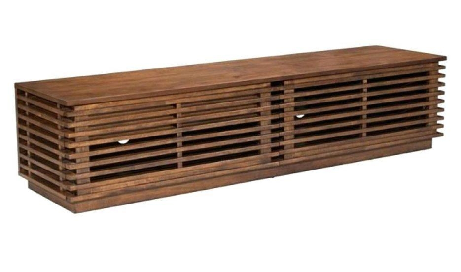 Tv Stand : Zuo Linea Wide Tv Stand In Walnut Side Angle View Tv For Most Recent Tv Stand 100Cm Wide (Photo 15 of 20)