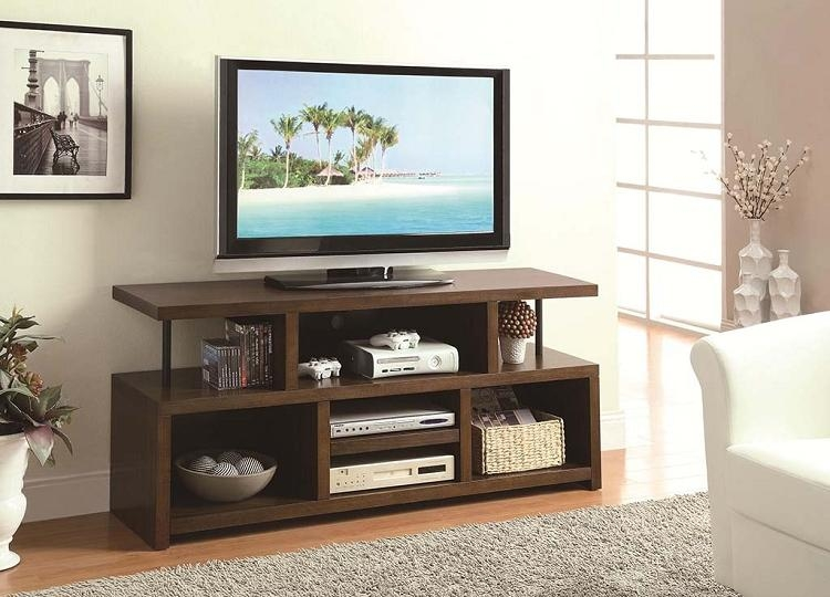 Tv Stands Casual Tv Console With Open Storage Intended For Best And Newest Open Shelf Tv Stands (View 5 of 20)