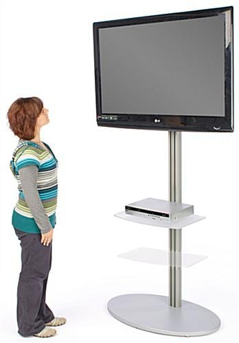 Tv Stands Features Two Shelves | For Video Components & Brochures With Latest Tv Stand With Mount (Image 16 of 20)