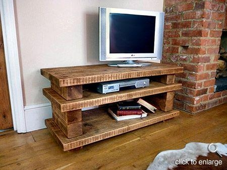 Tv Stands For Flat Screens Wooden Pallet | Hand Crafted, High Intended For 2017 Chunky Wood Tv Unit (View 6 of 20)
