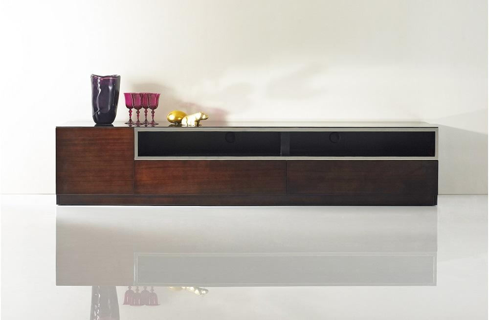 Featured Photo of Wood Tv Stand With Glass Top