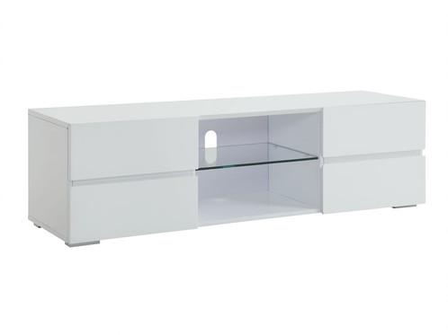 Tv Stands High Gloss White Tv Stand With Glass Shelf | Buen Hogar With Most Recently Released High Gloss White Tv Cabinets (Image 18 of 20)
