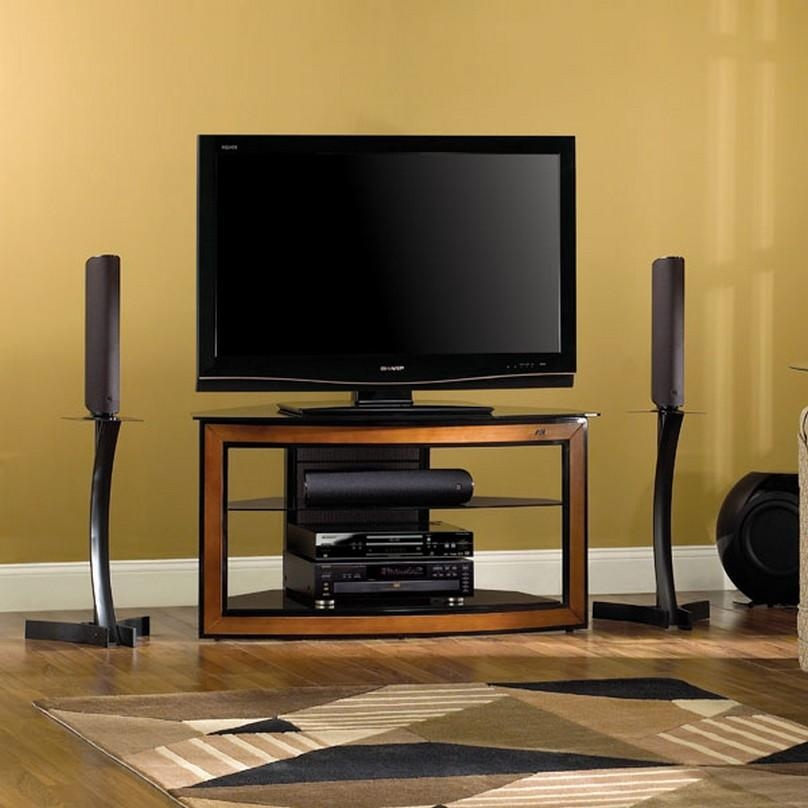 Tv Stands Modern Glass Corner Tv Stands For Flat Screen Tvs Ideas With Regard To Recent Corner Tv Stands For 55 Inch Tv (Image 18 of 20)