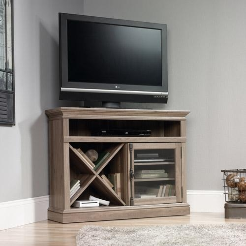 Tv Stands - Walmart inside Most Popular Grey Corner Tv Stands