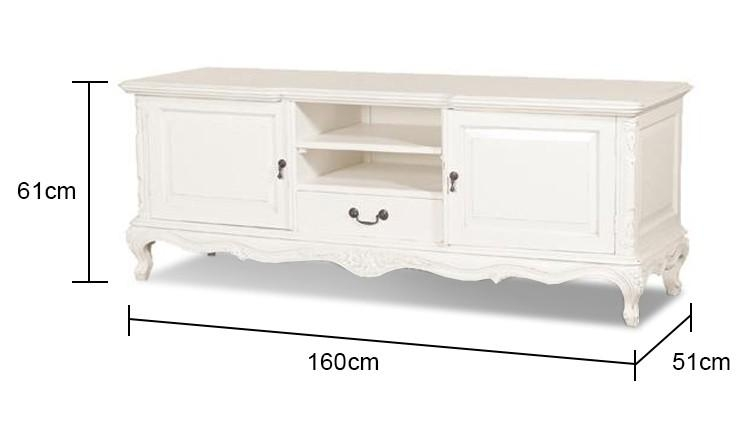 Tv Unit In White Intended For Best And Newest French Tv Cabinets (View 10 of 20)