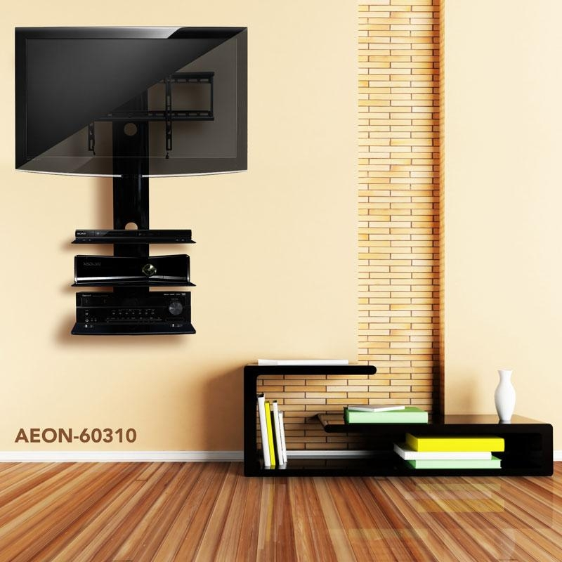 Tv Wall Mount With Three Shelves | Tv Mounts | Av Express With Newest Swivel Tv Stands With Mount (Image 14 of 20)