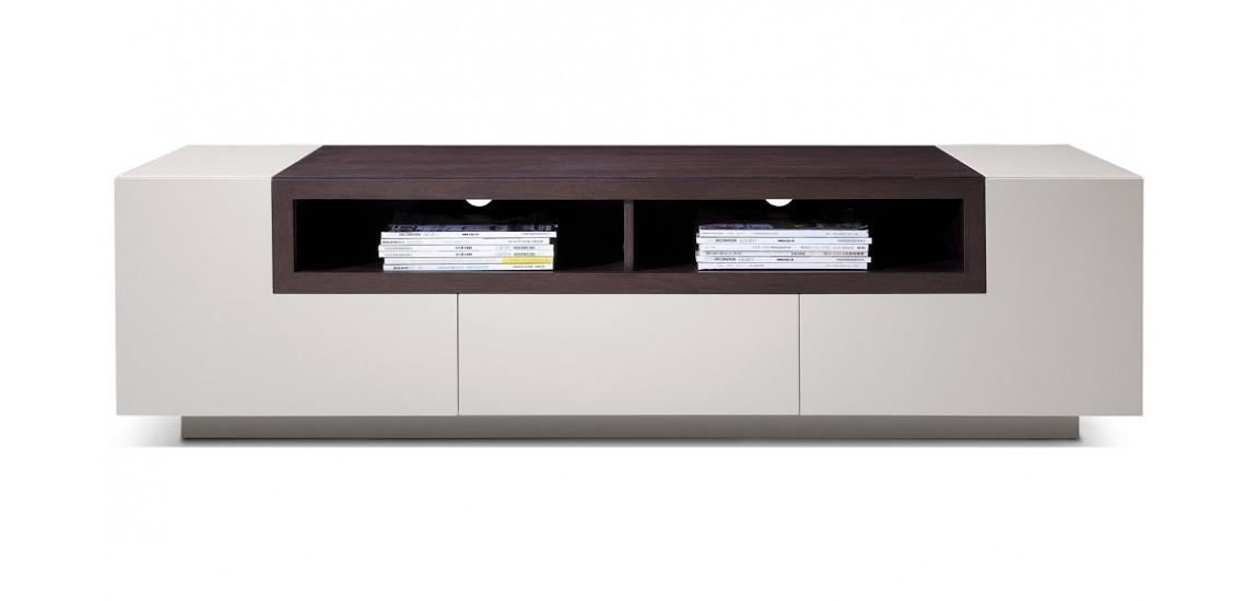 Tv002 Modern Tv Stand In Light Grey Color With Wood Throughout Most Popular Light Colored Tv Stands (Image 17 of 20)