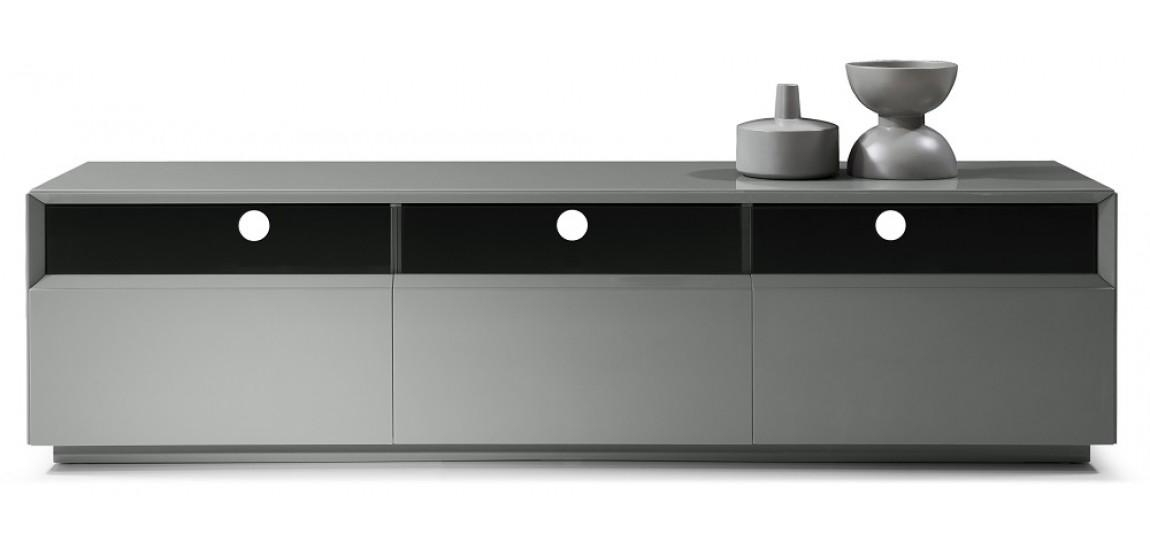 Tv023 Long Tv Stand In Grey High Gloss Finish With Regard To Best And Newest Black Gloss Tv Stand (Image 19 of 20)
