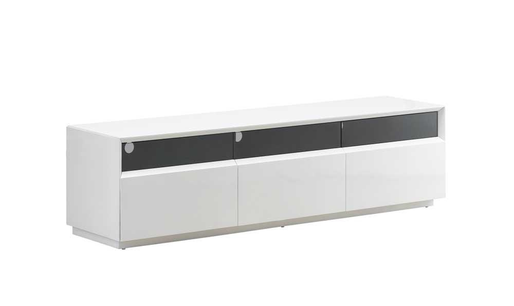 Tv023 Tv Stand, White High Gloss Buy Online At Best Price – Sohomod Intended For Best And Newest White High Gloss Corner Tv Unit (View 15 of 20)