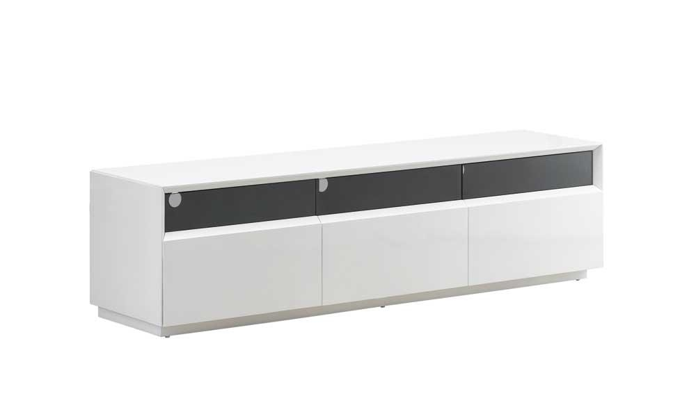 Tv023 Tv Stand, White High Gloss Buy Online At Best Price – Sohomod Within Most Popular Long White Tv Stands (Image 16 of 20)