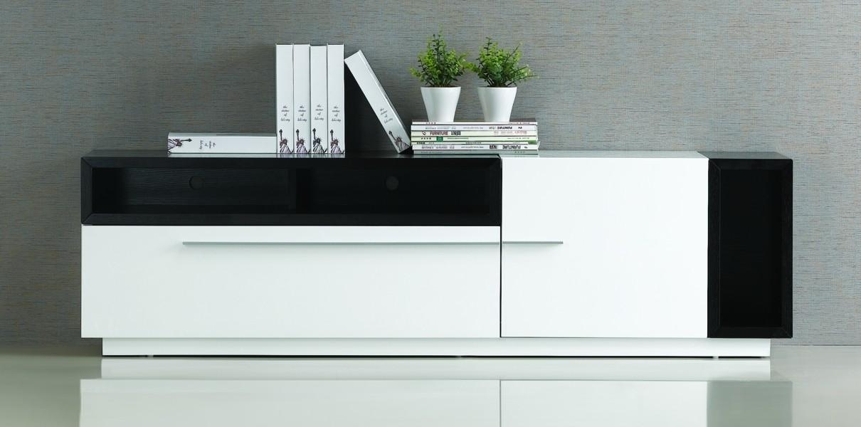 Tv030 Modern Tv Stand With Regard To Best And Newest Modern White Lacquer Tv Stands (Image 18 of 20)