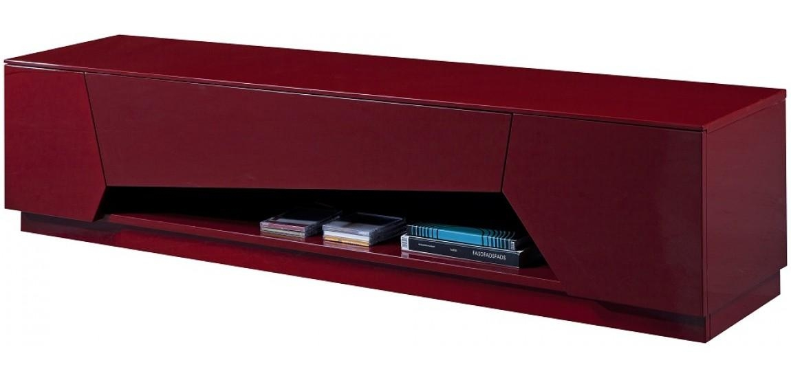Tv125 Modern Long Tv Stand In Red Finishj&m Furniture Within Most Current Red Modern Tv Stands (Image 19 of 20)