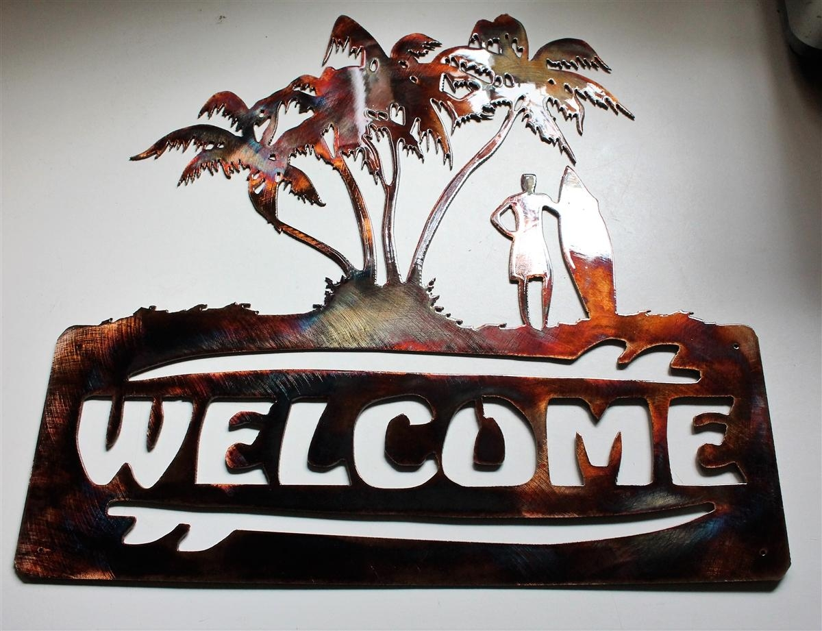 Twitter With Palm Tree Metal Wall Art (Image 18 of 20)