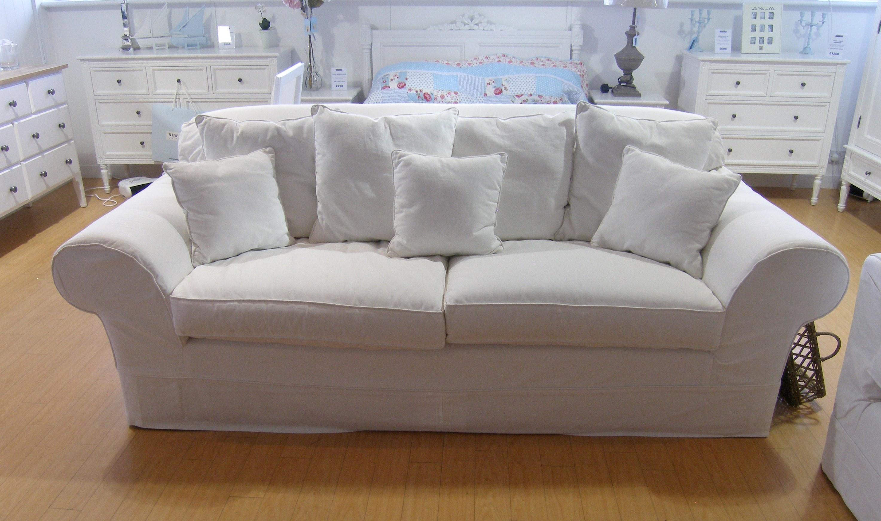 Types Furniture For Living Room Warm Home Design Inside White Fabric Sofas (View 15 of 20)
