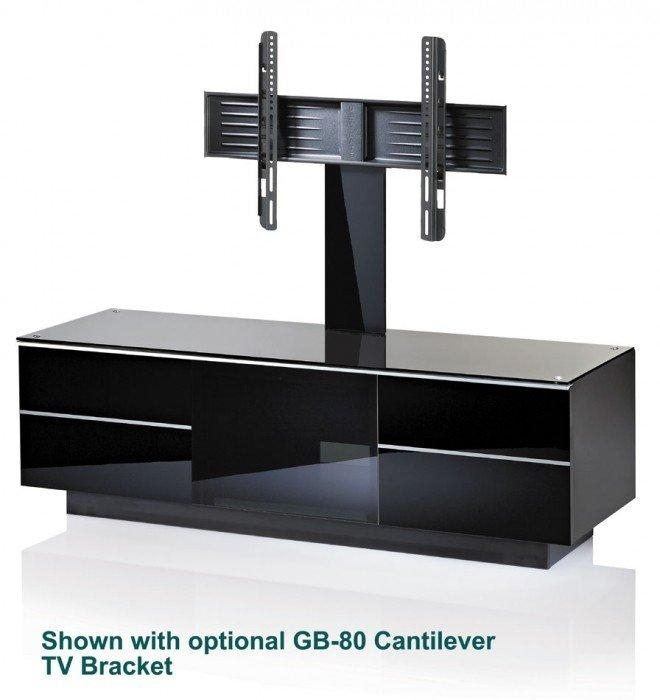 Uk-Cf Ultimate G-G-135-Bl Black Lifestyle Tv Stand regarding Most Popular Tv Stands With Bracket