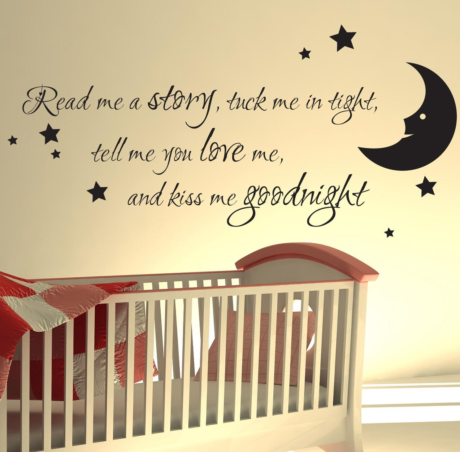 Uk Nursery Wall Quotes Quotesgram About Sticker Read Me A Story regarding Inspirational Wall Art for Girls