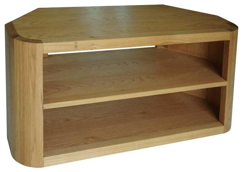 Ultimum Durham Oak Ud43 Corner Tv Stand With Regard To Newest Corner Wooden Tv Stands (Image 18 of 20)
