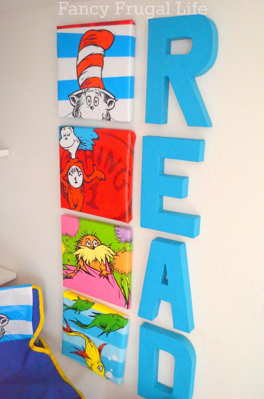 Under The Stairs Closet Turned Kids Book Nook | Throughout Dr Seuss Canvas  Wall Art (