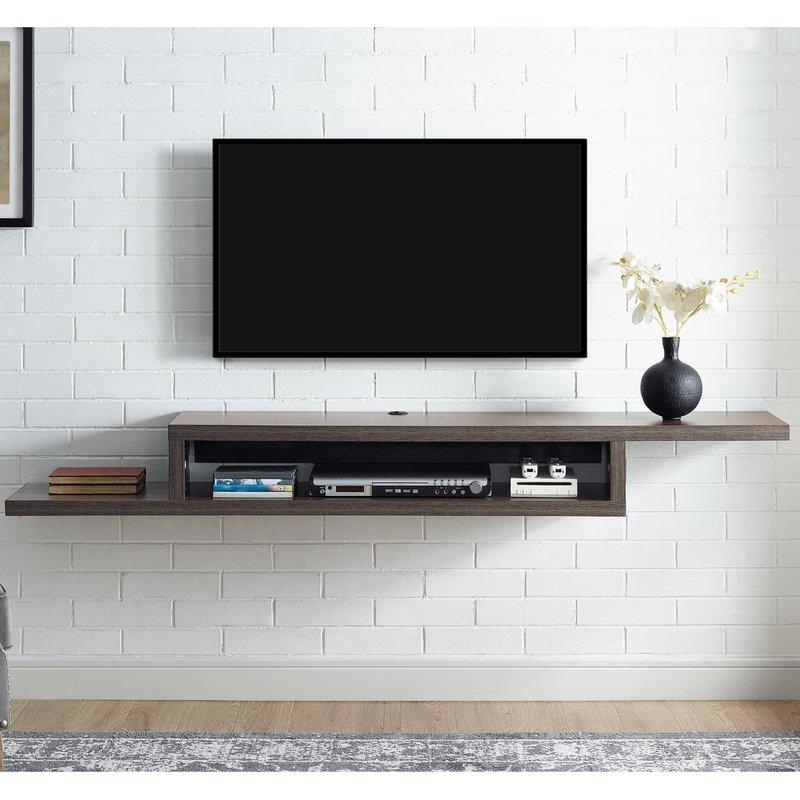 Under Tv Wall Shelf | Wayfair In 2017 Shelves For Tvs On The Wall (View 7 of 20)