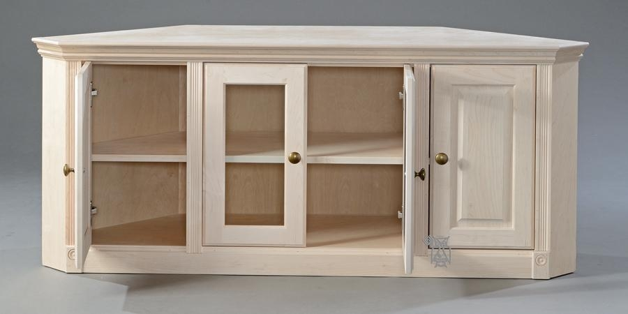 Unfinished Corner Tv Cabinet | Mf Cabinets Regarding Most Popular Maple Tv Cabinets (View 13 of 20)