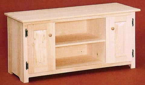 Unfinished Pine Tv Stands & Consoles Intended For Most Recent Pine Tv Cabinets (View 18 of 20)
