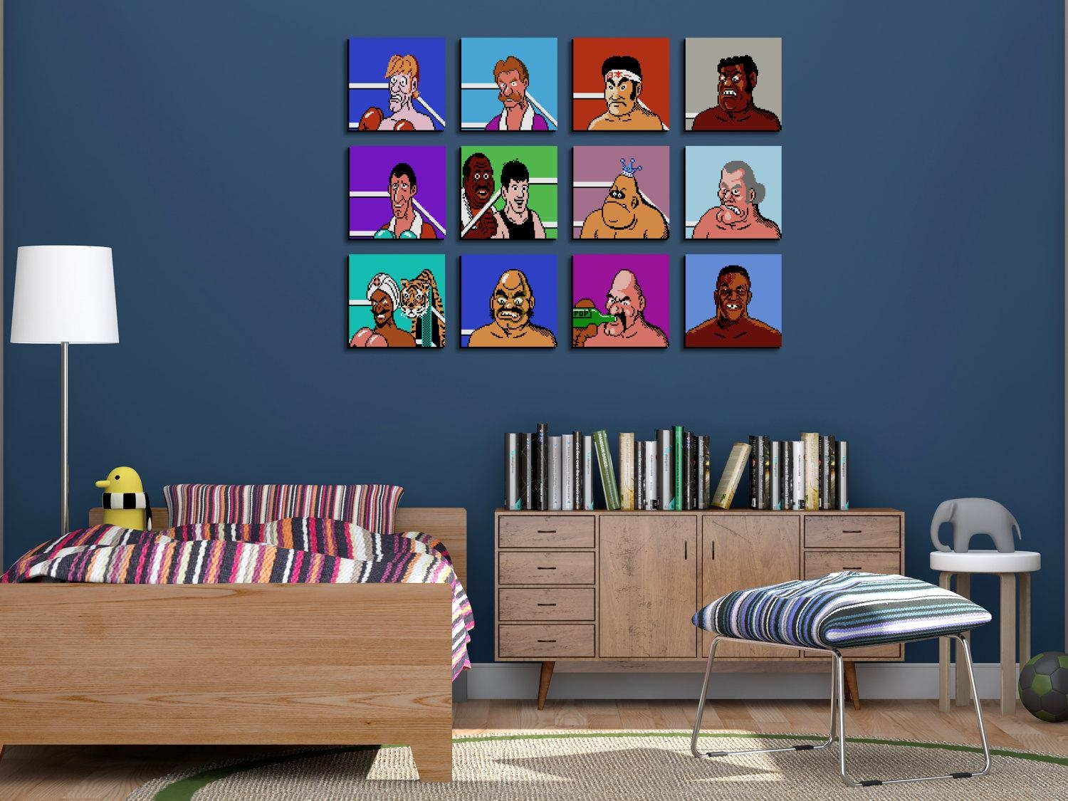 Unique 80S Throwback Mike Tysons Punch Out Nintendo Wall Art within Arcade Wall Art