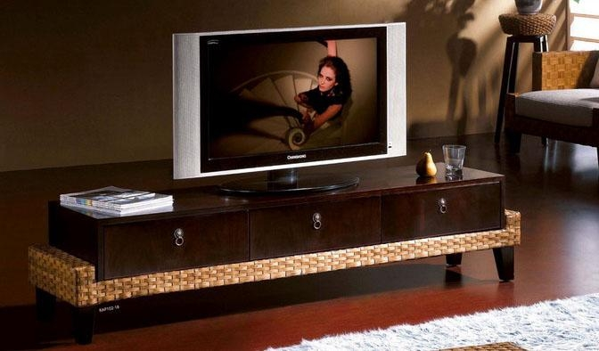 Unique And Classy Rattan Tv Stand Designs | Rattancraft for Most Recently Released Unique Tv Stands