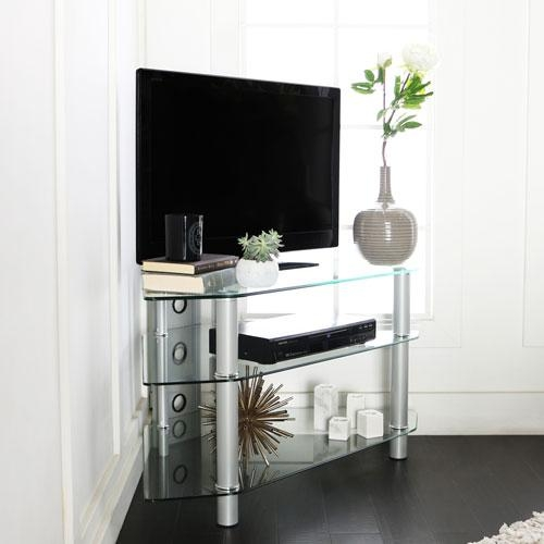 Unique Corner Tv Stands | Bellacor with Recent Unique Corner Tv Stands