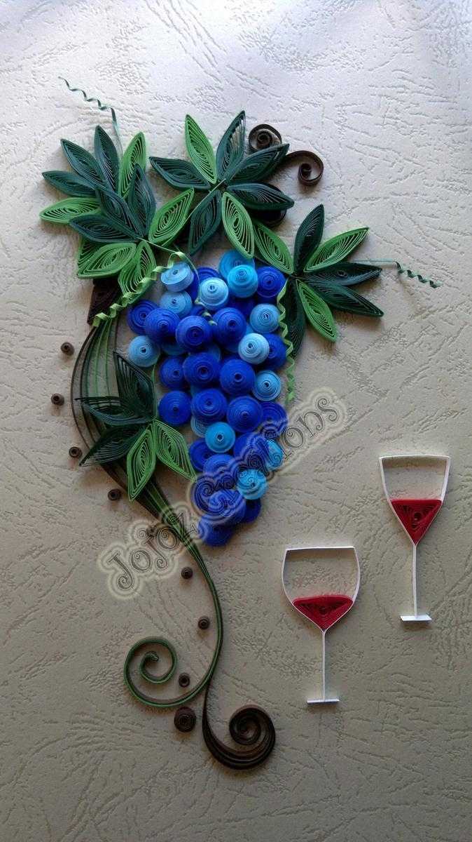 Unique Quilled Grape Vine Wall Art Hanging Framedjojoz throughout Grape Vine Wall Art