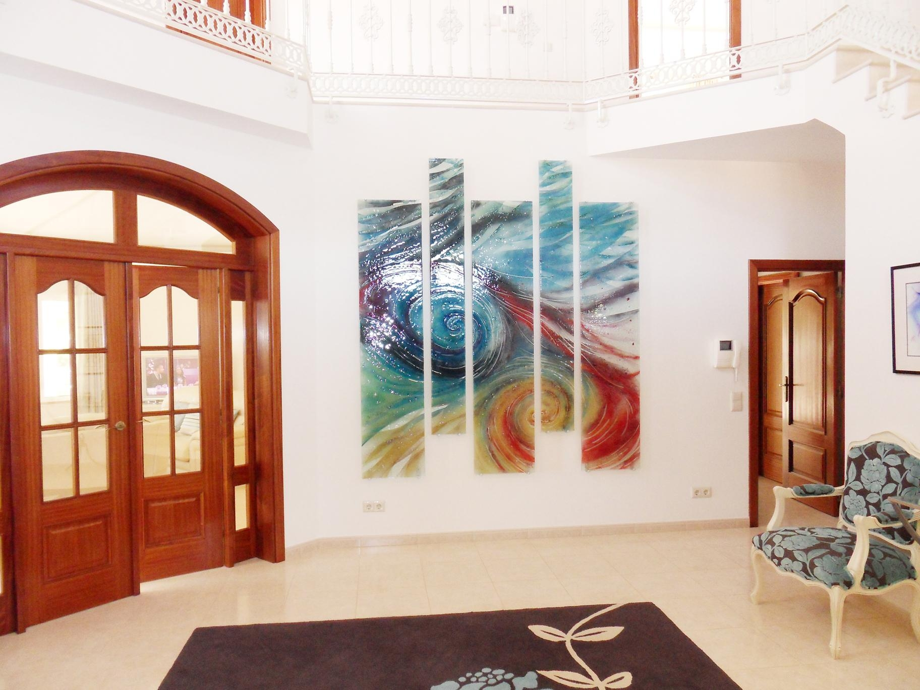 Unique Wall Art Ideas For Living Room Abstract Painting ~ Loversiq intended for Abstract Fused Glass Wall Art