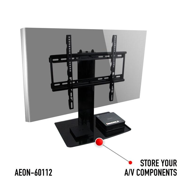 Universal I Tabletop Tv Stand | Swivel I Height Adjustment Intended For Most Current Tv Stands Swivel Mount (Image 13 of 20)