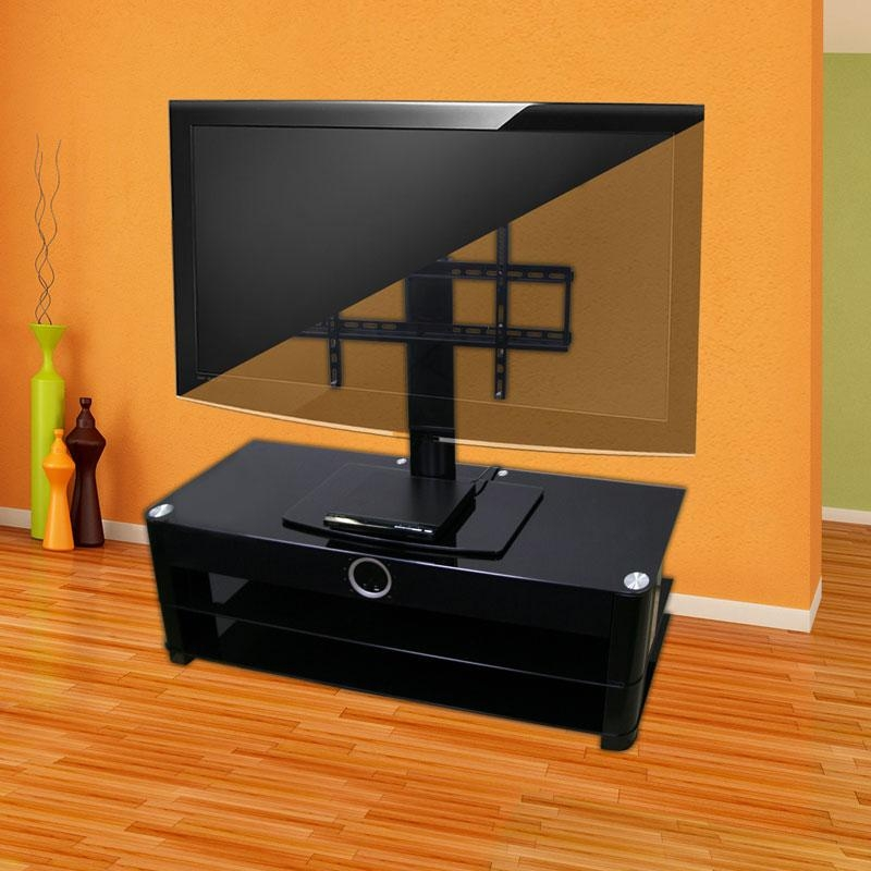 Universal Tabletop Tv Stand | Swivel Height Adjustment | Av inside 2017 Tv Stands Swivel Mount