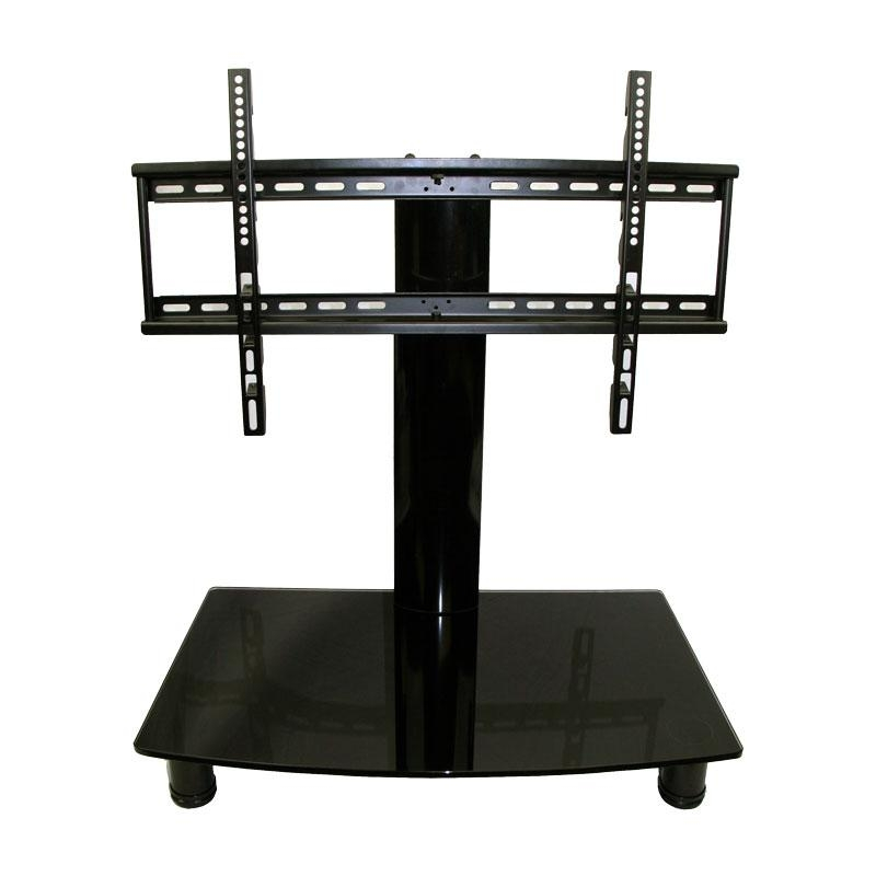 Universal Tabletop Tv Stand | Swivel Height Adjustment | Av With Regard To Best And Newest Vizio 24 Inch Tv Stands (Photo 3 of 20)