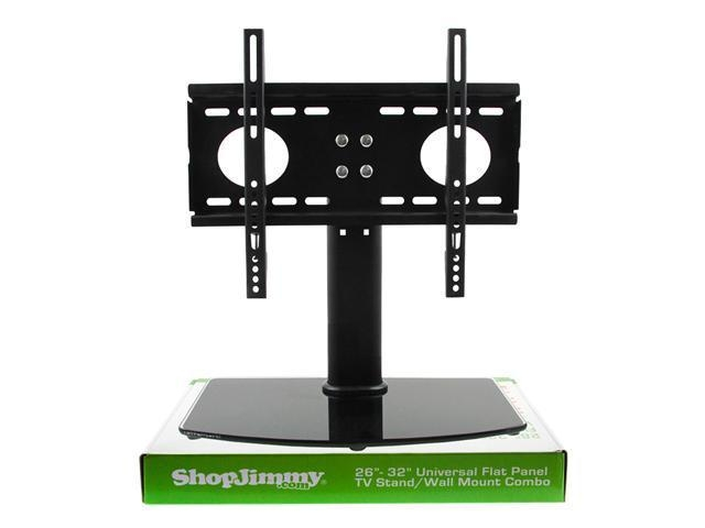 "Universal Tv Stand / Base + Wall Mount For 26"" - 32"" Flat Screen intended for Most Recently Released Wall Mounted Tv Stands For Flat Screens"