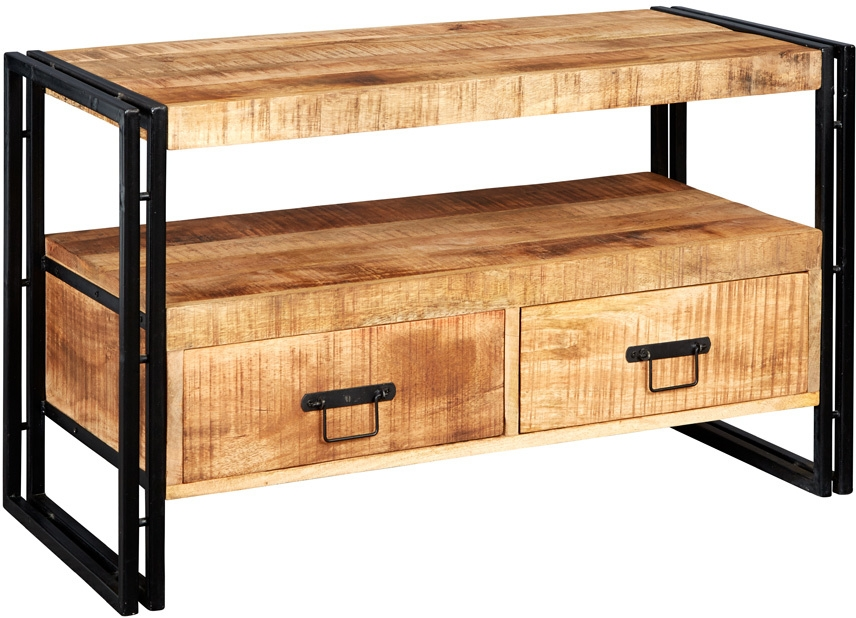 Upcycled Industrial Mintis Tv Cabinet | Tv & Media Units in Most Recent Industrial Tv Cabinets