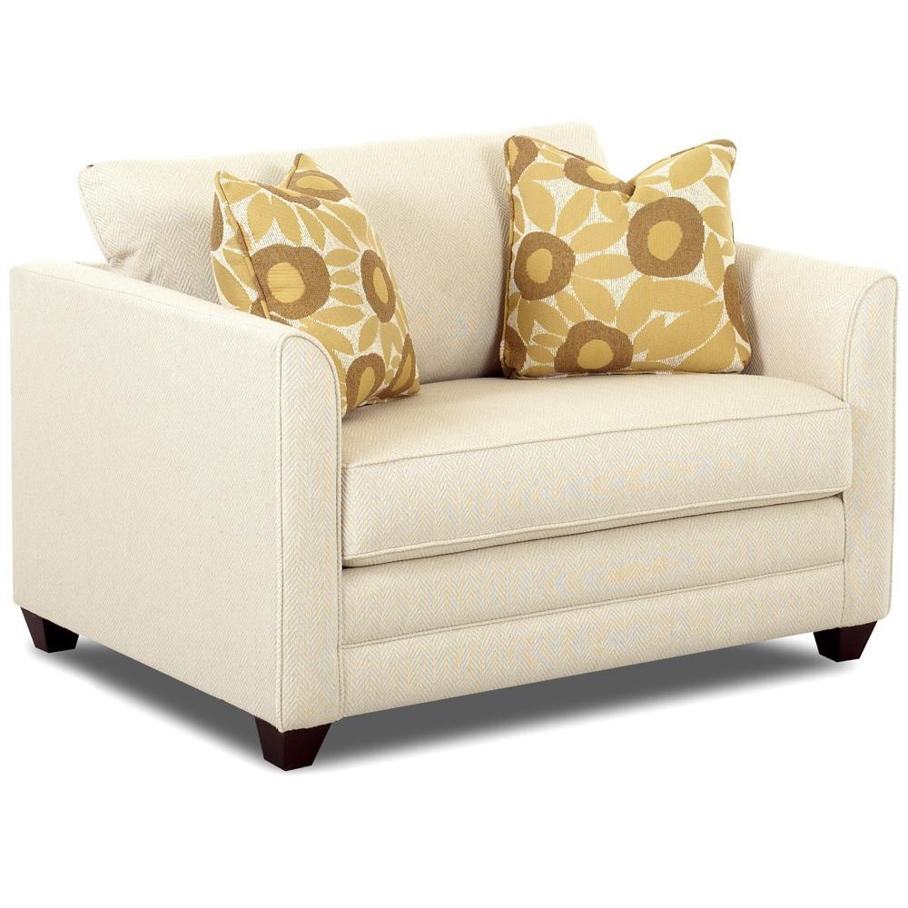 Upholstered Chair Sleeper With A Twin Mattressklaussner | Wolf Pertaining To Loveseat Twin Sleeper Sofas (View 14 of 20)