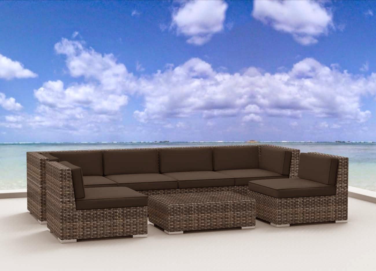 Urban Furnishing Modern Outdoor Backyard Wicker Rattan Patio With Modern Rattan Sofas (View 11 of 23)